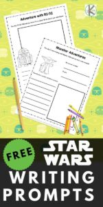 Star Wars Writing Prompts for Kindergarten