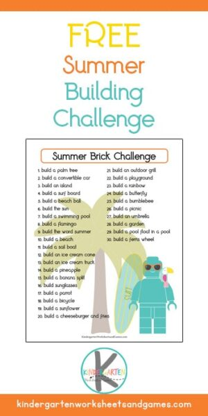 Looking for a fun challenge to add to your month of June? Kids of all ages will love this free printable Summer Lego Challenge!
