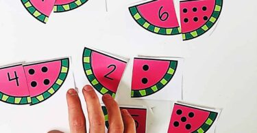 summer Number Puzzles are a fun math activity for kindergartners, preschoolers, and prek