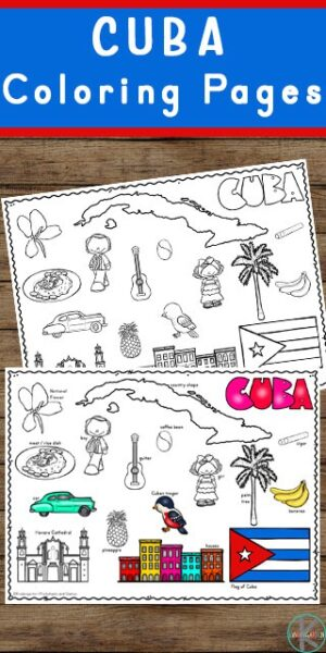 FREE Cuba Coloring Pages - Learn about the Caribbean country of Cuba as you color these super cute, free printable Cuba Coloring Pages. From the high mountains to the farmland on the plains, Cuba is filled with different habitats, the bee hummingbird (smallest bird in the world), the world's smallest frog - Mount Iberia frog, lots of music, delicious food, and people speaking Spanish. Children will have fun learning about Cuba and its culture with this Cuba worksheet. geography fun for preschool, pre k, kindergarten, first grade, 2nd grade, 3rd grade, 4th grade, and 5th grade students.