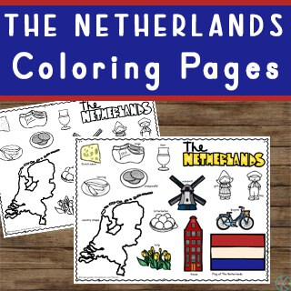Learn about the Netherlands with these super cute Holland Coloring Pages filled with fun to color clipart
