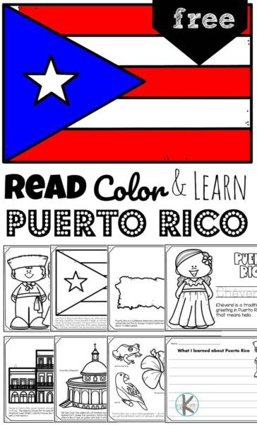Puerto Rico you lovely island.....children will be fascinated to learn about the rich history, beautiful wildlife, and the cool fort as they explore this Caribbean Island with these free printablePuerto Rico Coloring Pages for toddlers, preschoolers, kindergarteners, first graders, 2nd graders, and 3rd graders.