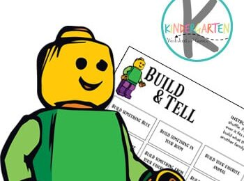 Sneak in a fun educational activity that is great for helping your child learn to express themselves and work on early literacy with these FREE printable Summer Build and Tell Lego Challenge Cards. Use these with preschool, pre k, kindergarten, and grade 1. You can also do this with playdough or duplo blocks!