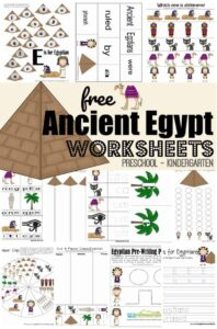 ancient egypt themed worskheets