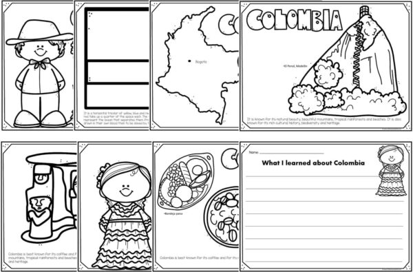 colombia coloring pages