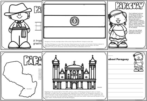 paraguay coloring pages
