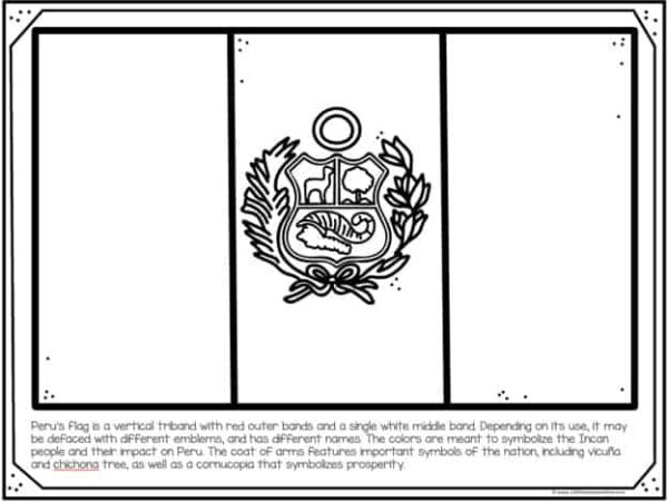 peru flag coloring page