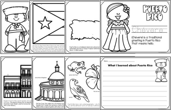 puerto rico coloring pages