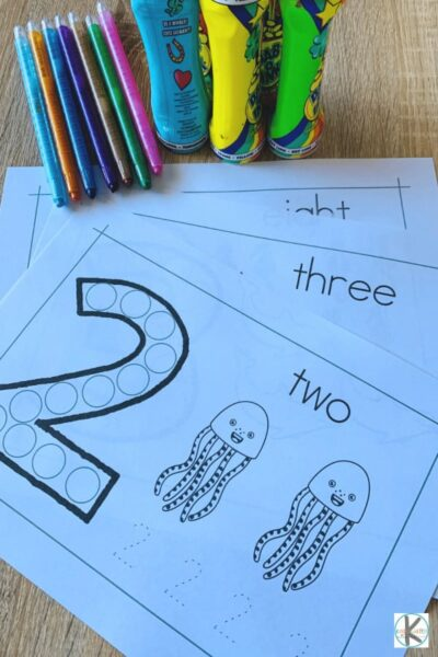 practice tracing numbers 1-10 with these ocean themed number worksheets for preschool, pre k, and kindergarten