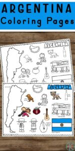Children will have fun learning about the South American country of Argentina and its culture with these free printable,Argentina Coloring Pages for preschool, pre k, kindergarten, first grade, 2nd grade, 3rd grade, 4th grade, and 5th grade students.