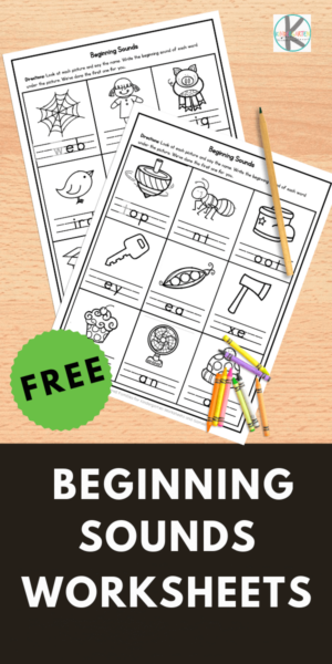 FREE Beginning Sounds worksheets - Help early readers who are beginning to develop phonemic awareness with these beginning sounds worksheets. Download pdf file with free worksheets for kindergarteners and grade 1.