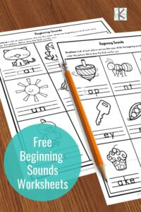 Free printable beginning sounds worksheets are perfect for early readers who are starting to sound out words and develop phonemic awareness. Use in kindergarten and first grade. Click through to download the free worksheets!