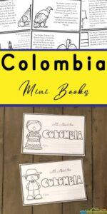 Learn about Colombia for Kids with a printable book filled with cute clipart and tons of interesting facts