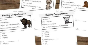 Kindergarten Reading Comprehension Worksheets that not only work on improving reading skills, but also teach kindergartners about 15 fascinating mammal animals