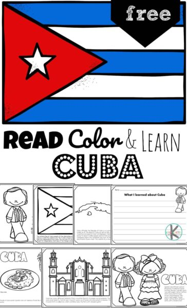 Learn about the Caribbean country of Cuba as you color these super cute, free printable Cuba Coloring Pages. From the high mountains to the farmland on the plains, Cuba is filled with different habitats, the bee hummingbird (smallest bird in the world), the world's smallest frog - Mount Iberia frog, lots of music, delicious food, and people speaking Spanish. Children will have fun learning about Cuba and its culture with this Cuba worksheet.
