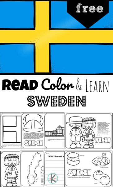 FREE Sweden Coloring Pages - Learn about Sweden, a fascinating country in Scandinavia, a region of northern Europe, with these free printable Sweden worksheets. This country, home to many endangered species of animals, is a popular destination for seeing the Northern Lights in the fall; it is often referred to as the land of the midnight sun because during summer months the sun doesn't set in the far North. Children will have fun learning about Sweden and its culture.