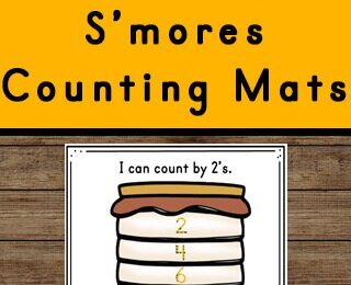 This free printable S'Mores themedSkip Counting Activity is perfect for a summer or camping theme math activity for kindergarten, first grade, 2nd grade, 3rd grade and 4th grade students. Practice counting and tracing numbers is a great way for children to practice and improve their knowledge of the numbers and simple math skills.