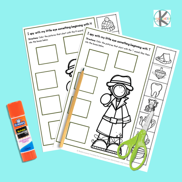 free kindergarten worksheets to work on phonemic awareness and beginning sounds