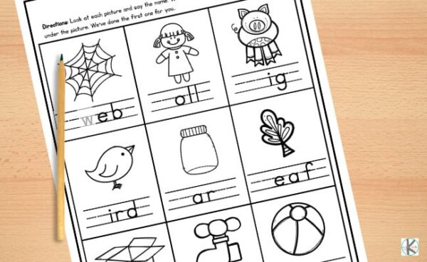 kindergarten printables to find the missing letter / sound on the free kindergarten worksheets