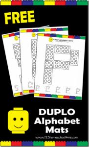 lego alphabet mats