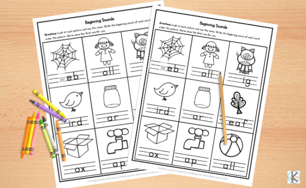 these no prep phonics worksheets are perfect for preschoolers, kindergartners, and 1st grade students learning to read