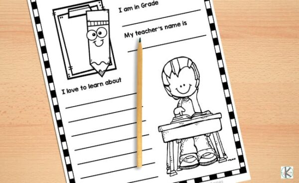 all about me printable worksheets