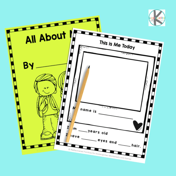 All About Me First Day of School Printable BOok