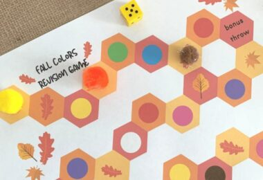 Fall is almost here! Can you smell the pumpkin spice in the air? Perhaps the leaves are starting to fall and the air is getting crispier... Let the fun Fall learning begin! Start with this fun Fall colors board game to practice color recognition! This Game about Colors is perfect for toddler, preschool, pre k, and kindergarten age students.