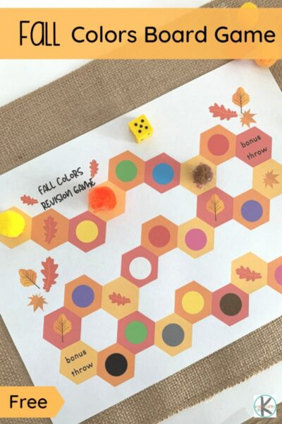 Fall is almost here! Can you smell the pumpkin spice in the air? Perhaps the leaves are starting to fall and the air is getting crispier... Let the fun Fall learning begin! Start with this fun Fall colors board game to practice color recognition! ThisGame about Colors is perfect for toddler, preschool, pre k, and kindergarten age students.