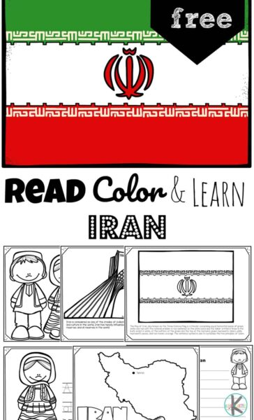 Children will have fun learning about Iran and its culture with these free printableIran Coloring Pages for preschool, pre k, kindergarten, first grade, 2nd grade, 3rd grade, and 4th grade students.