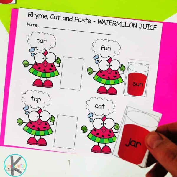 free Rhyming Worksheets
