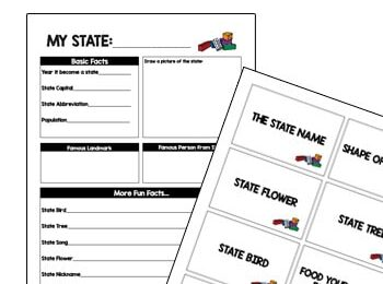 If you have a huge Lego brick fan in your house, you are going to love this clever free printable for learning about the US States for kids! The free printable state report encourages kindergarten, first grade, 2nd grade, 3rd grade, 4th grade, and 5th grade students to complete a state Lego Challenge for Kids. This is such a fun way to learn about the states for kids!