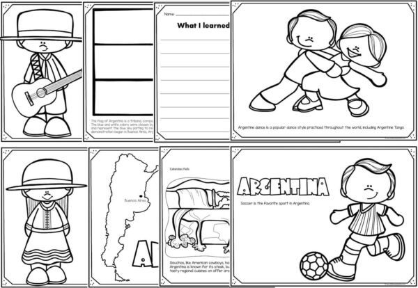 argentina coloring pages