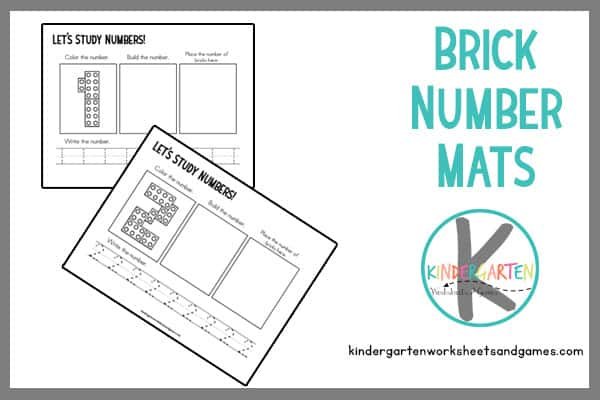 brick counting and tracing number mats