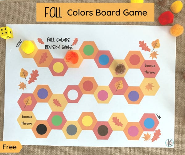 kindergarten fall learning game
