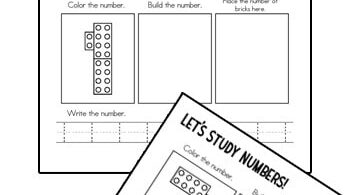 Make practicing numbers 1-10 FUN for preschool, pre k, and kindergarten age kids with these super cute, FREE printable, LegoNumber Tracing mats.