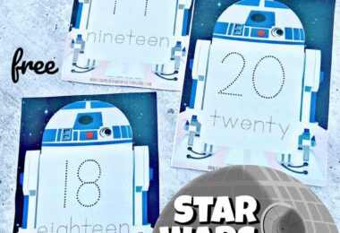 star wars theme math activity for kindergarten