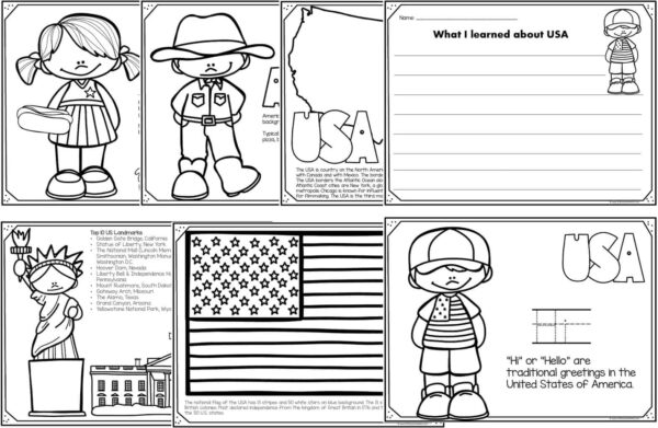 united states of america coloring pages