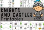 Huge pack of themed worksheets to help preschoolers learn math and literacy skills with a fun medieval theme. Download pdf file with Castle Worksheets!