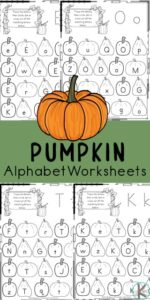 Kids will have fun learning and practicing identifying lowercase letters with these super cute, free printable, pumpkin find the letterworksheets. These free pumpkin activity printables are a handy educational letter find worksheets to help preschool, pre k, kindergarten, and first grade students work on letter recognition and learn their alphabet letters A-Z.