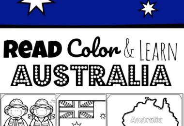 REad Color and Learn about Australia for Kids