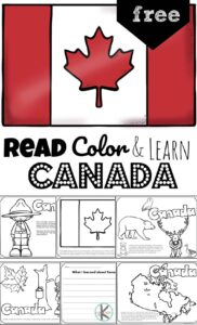 Ready to learn about the second largest country in the world? Children will have fun learning about Canada for kids. These FREE Printable Canada Coloring Pages introduce preschool, pre k, kindergarten, first grade, 2nd grade, 3rd grade, 4th grade, and 5th grade students to the diverse Canadian wildlife, Canadian police called Mounties, totem poles, delicious food from Canada, and more!