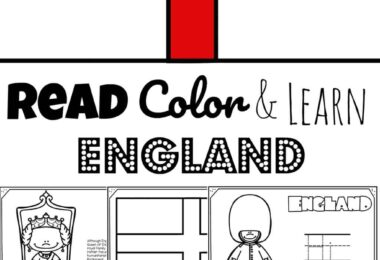 REad Color and Learn about England for kids