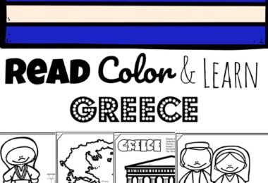 REad Color and Learn about Greece for Kids