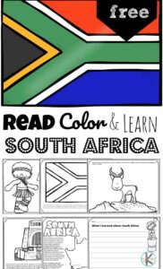 REad Color and Learn about South Africa for Kids