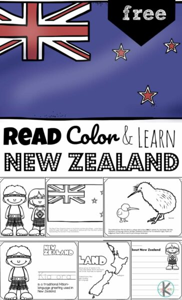 Read Color And Learn About New Zealand