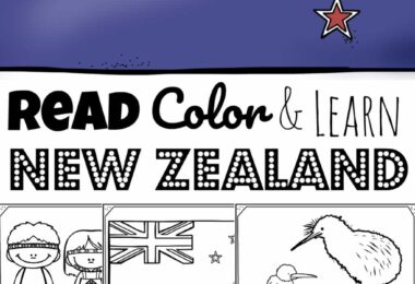 REad Color and Learn about new Zealand for kids