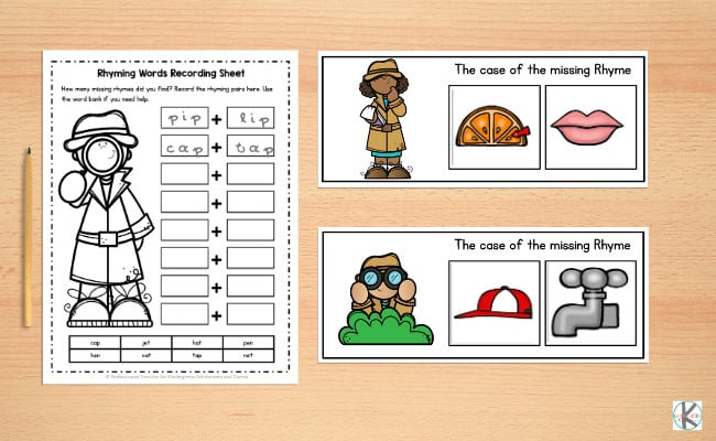 Rhyming Activity For Kindergarten