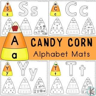 candy corn alphabet mats
