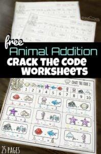 crack the code math worksheets